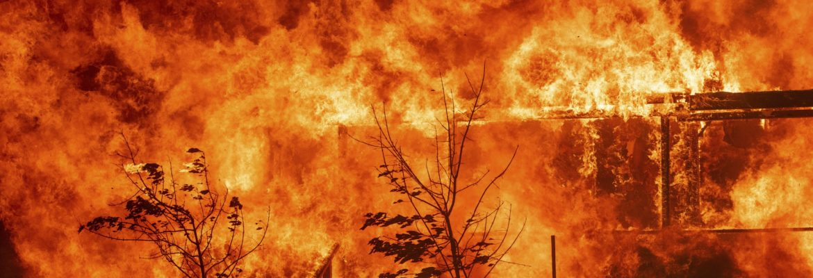 Wildfire consumes house